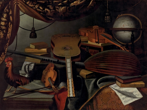 B. Bettera, Nature morte aux instruments © Saint Louis Art Museum