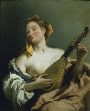 Giambattista Tiepolo, Femme à la mandoline, The Detroit Institute of Arts.